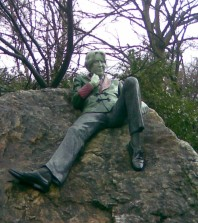 Statue of Oscar Wilde by Danny Osborne in Dublin's Merrion Square